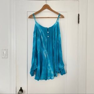 Jens Pirate Booty Turquoise Tie Dye Tunic